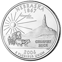 2006-D Nebraska USA Statehood Quarter Brilliant Uncirculated (MS-63)