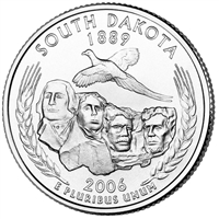 2006-D South Dakota USA Statehood Quarter Brilliant Uncirculated (MS-63)