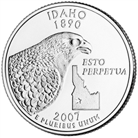 2007-P Idaho USA Statehood Quarter Brilliant Uncirculated (MS-63)