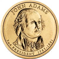 2007-D USA Presidential Dollar - John Adams Brilliant Uncirculated (MS-63)