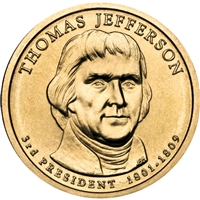 2007-D USA Presidential Dollar - Thomas Jefferson Brilliant Uncirculated (MS-63)
