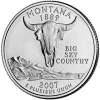 2007-P Montana USA Statehood Quarter Brilliant Uncirculated (MS-63)