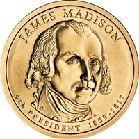 2007 USA Presidential Dollar - James Madison Brilliant Uncirculated (MS-63)
