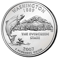 2007-P Washington USA Statehood Quarter Brilliant Uncirculated (MS-63)