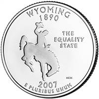 2007-P Wyoming USA Statehood Quarter Brilliant Uncirculated (MS-63)