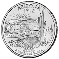 2008-P  Arizona USA Statehood Quarter Brilliant Uncirculated (MS-63)