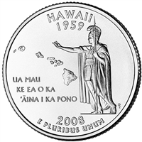 2008-P Hawaii USA Statehood Quarter Brilliant Uncirculated (MS-63)