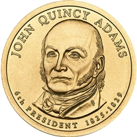 2008-D USA Presidential Dollar - John Quincy Adams Brilliant Uncirculated (MS-63)