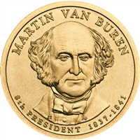 2008-D USA Presidential Dollar - Martin Van Buren Brilliant Uncirculated (MS-63)
