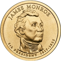 2008-D USA Presidential Dollar - James Monroe Brilliant Uncirculated (MS-63)