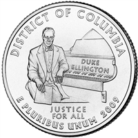 2009-P District of Columbia USA Statehood Quarter Brilliant Uncirculated (MS-63)