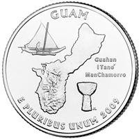 2009-P Guam USA Statehood Quarter Brilliant Uncirculated (MS-63)