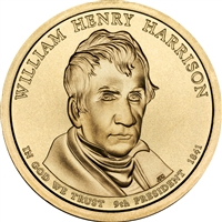 2009 P USA Presidential Dollar - William Henry Harrison BU (MS-63)