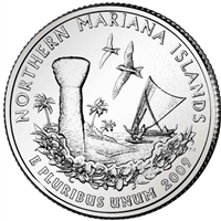 2009-P Northern Mariana Islands USA Statehood Quarter Brilliant Uncirculated (MS-63)