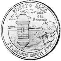 2009-P Puerto Rico USA Statehood Quarter Brilliant Uncirculated (MS-63)