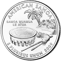 2009-D American Samoa USA Statehood Quarter Brilliant Uncirculated (MS-63)