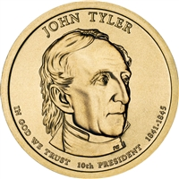 2009-P USA Presidential Dollar - John Tyler Brilliant Uncirculated (MS-63)