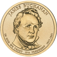 2010-P USA Presidential Dollar - James Buchanan Brilliant Uncirculated (MS-63)