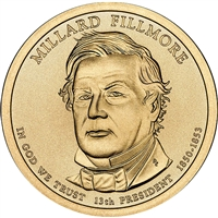 2010-P USA Presidential Dollar - Millard Fillmore Brilliant Uncirculated (MS-63)