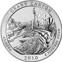 2010 D Grand Canyon USA National Parks Quarter Brilliant Uncirculated (MS-63)