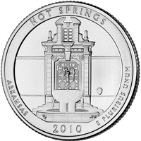 2010 D Hot Springs USA National Parks Quarter Brilliant Uncirculated (MS-63)