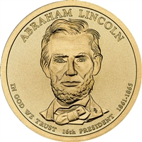 2010-P USA Presidential Dollar - Abraham Lincoln Brilliant Uncirculated (MS-63)