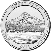 2010 D Mount Hood USA National Parks Quarter Brilliant Uncirculated (MS-63)