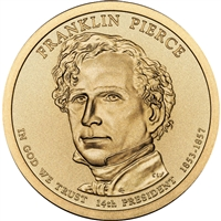 2010-P USA Presidential Dollar - Franklin Pierce Brilliant Uncirculated (MS-63)