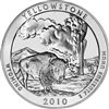 2010 P Yellowstone USA National Parks Quarter Brilliant Uncirculated (MS-63)