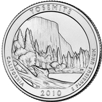 2010 D Yosemite USA National Parks Quarter Brilliant Uncirculated (MS-63)
