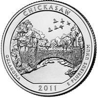 2011 P Chickasaw USA National Parks Quarter Brilliant Uncirculated (MS-63)