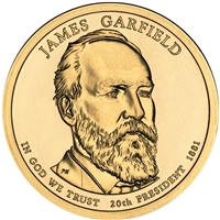 2011-P USA Presidential Dollar - James Garfield Brilliant Uncirculated (MS-63)