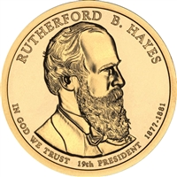 2011-P USA Presidential Dollar - Rutherford B. Hayes Brilliant Uncirculated (MS-63)