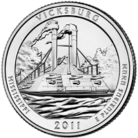 2011 P Vicksburg USA National Parks Quarter Brilliant Uncirculated (MS-63)