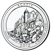 2012 P Acadia USA National Parks Quarter Brilliant Uncirculated (MS-63)