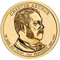 2012-P USA Presidential Dollar - Chester Arthur Brilliant Uncirculated (MS-63)