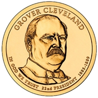 2012-D USA Presidential Dollar - Grover Cleveland 1st Term Brilliant UNC (MS-63)