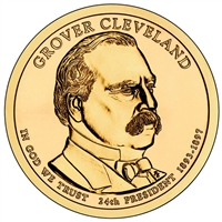 2012-D USA Presidential Dollar - Grover Cleveland 2nd Term Brilliant UNC (MS-63)