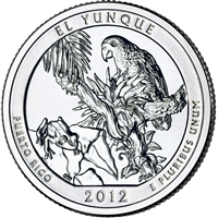 2012 D El Yunque USA National Parks Quarter Brilliant Uncirculated (MS-63)