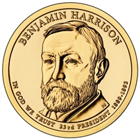 2012-P USA Presidential Dollar - Benjamin Harrison Brilliant Uncirculated (MS-63)