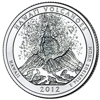 2012 P Hawaii Volcanoes USA National Parks Quarter Brilliant Uncirculated (MS-63)