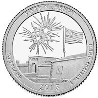 2013 P Fort McHenry USA National Parks Quarter Brilliant Uncirculated (MS-63)