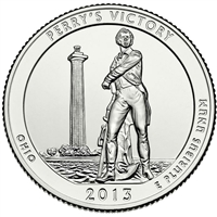 2013 P Perry's Victory USA National Parks Quarter Brilliant Uncirculated (MS-63)