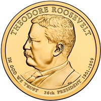 2013-D USA Presidential Dollar - Theodore Roosevelt Brilliant Uncirculated (MS-63)