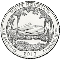 2013 D White Mountain USA National Parks Quarter Brilliant Uncirculated (MS-63)