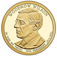2013-D USA Presidential Dollar - Woodrow Wilson Brilliant Uncirculated (MS-63)