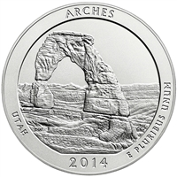 2014 P Arches USA National Parks Quarter Brilliant Uncirculated (MS-63)