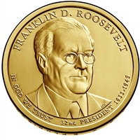 2014-D USA Presidential Dollar - Franklin D. Roosevelt Brilliant Uncirculated (MS-63)