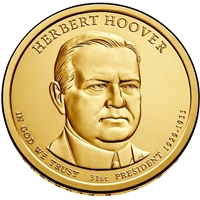 2014-D USA Presidential Dollar - Herbert Hoover - Brilliant Uncirculated (MS-63)