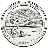 2014 D Great Sand Dunes USA National Parks Quarter Brilliant Uncirculated (MS-63)